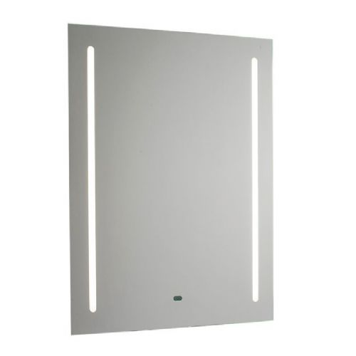 LED Mirrored glass & matt silver effect paint IP44 Bathroom Mirror Light + Shaver Socket 60899